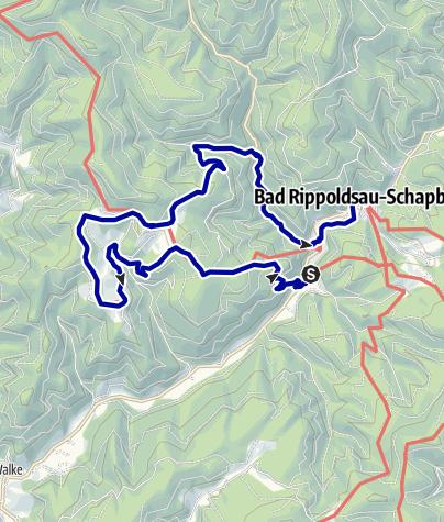 Karte / Der kleine Hansjakob Weg,  Etappe 3; Ochsenwirtshof  - Schapbach