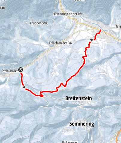 Karte / Schneeschuhwandern: Prein-Kreuzberg-Reichenau