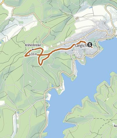 Karte / Nordic Walking Park - Blaue Strecke