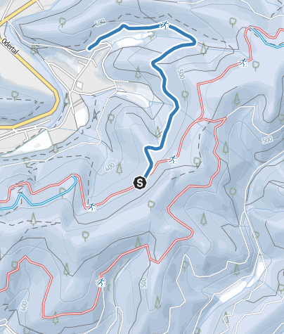 Karte / Verbindung Südharzloipe - Dietrichstal