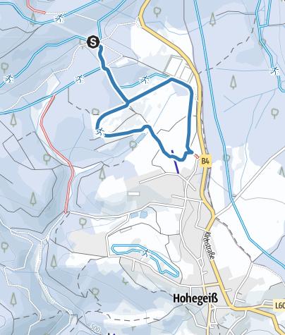 Karte / Wiesenloipe Hohegeiß