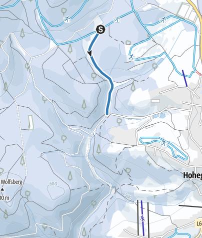 Karte / Verbindung Ebersbergloipe - Hohegeiß