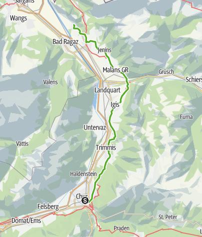 Karte / Weinwanderweg Bündner Rheintal