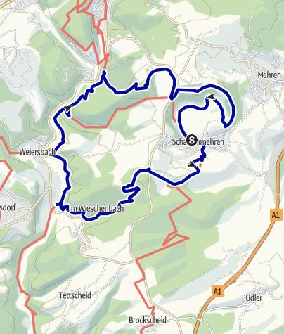 Karte / Eifelsteig und Lieserpfad - Die Dauner Maare eng umschlungen