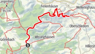 Karte / Sauerland-Höhenflug: Von Küstelberg nach Düdinghausen