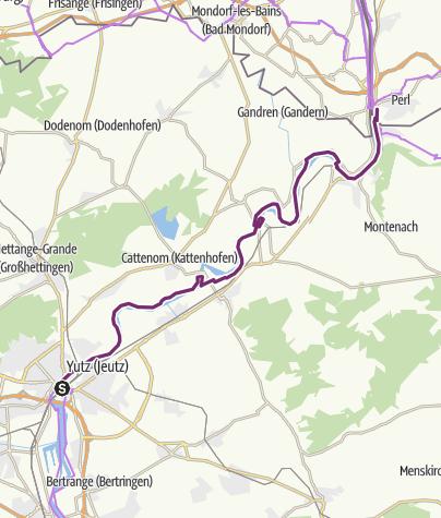 Kaart / Mosel-Radweg Etappe 1: Von Thionville bis Perl