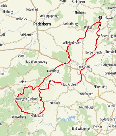 Karte / Tour 6 - Über Berg und Tal