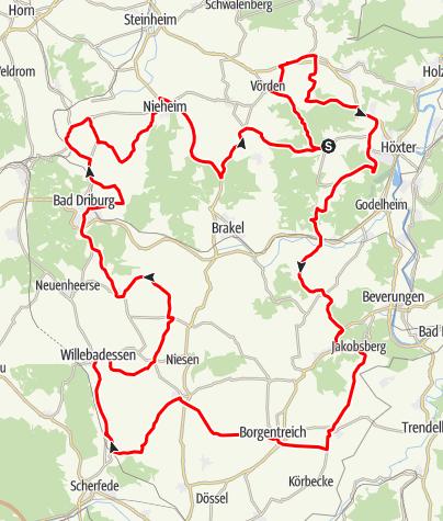 Karte / Tour 9 - Genussvolle Landpartie