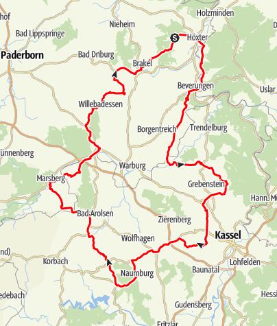 """Karte / Tour 10 - Auf den Spuren von """"König Lustik"""""""