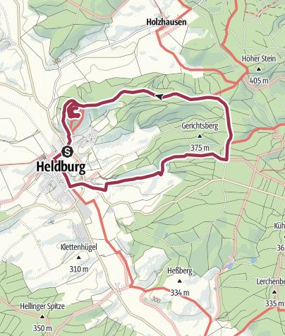 Karte / Veste Heldburg-Weg (Rundweg)