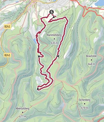 Karte / Mit Cora um den Rammelsberg