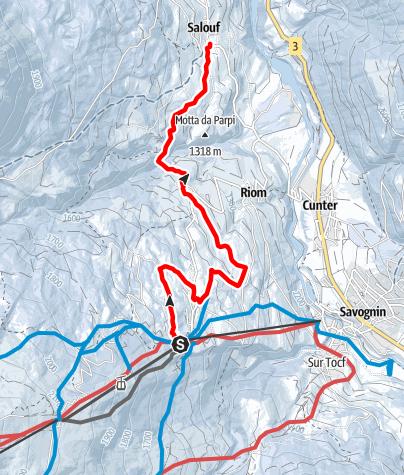 Kaart / Tigignas - Parsonz - Salouf