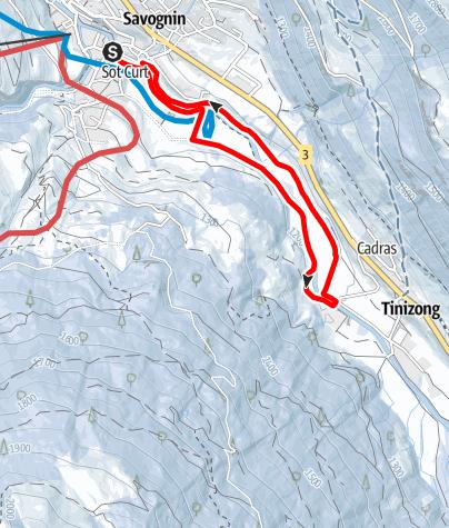 Map / Savognin - Tinizong - Savognin