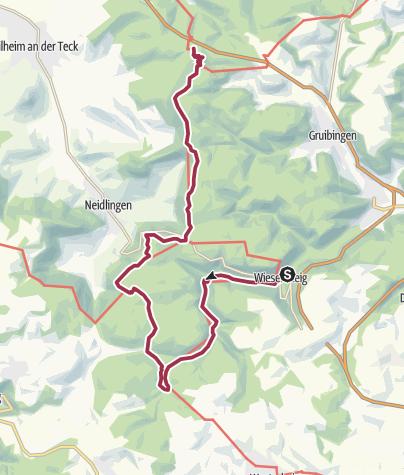 Karte / Albtraufgänger Etappe 1: Da mussch schwitza!