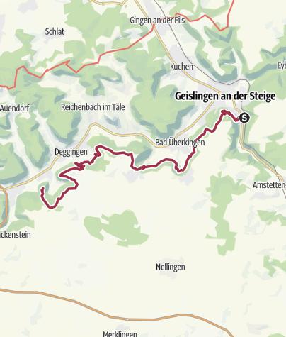 Karte / Albtraufgänger Etappe 5: da kannsch bada ganga!