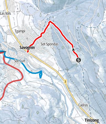 Karte / Savognin - Soras - Rudnal