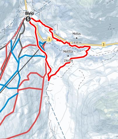 Karte / 341 Roccabella-Winterwanderweg