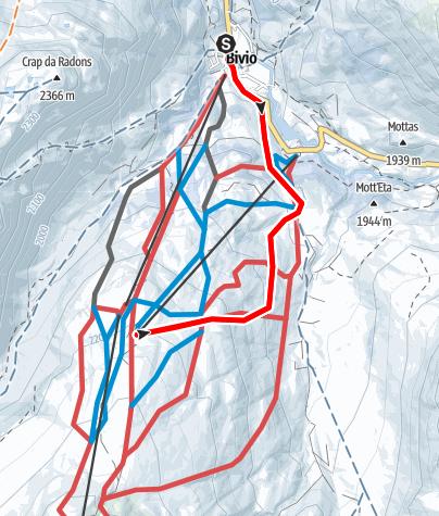 Karte / Bivio - Camon - Bivio