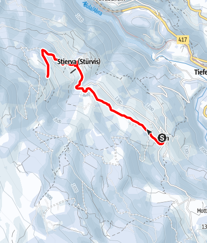 Karte / Höhenwanderweg Mon - Stierva