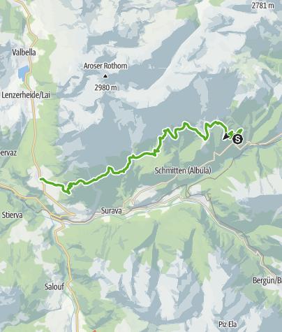 Karte / Alpentour Albulatal