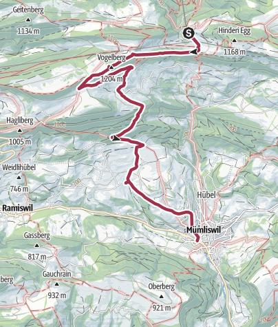 Karte / Wasserfallen-Kamm-Route