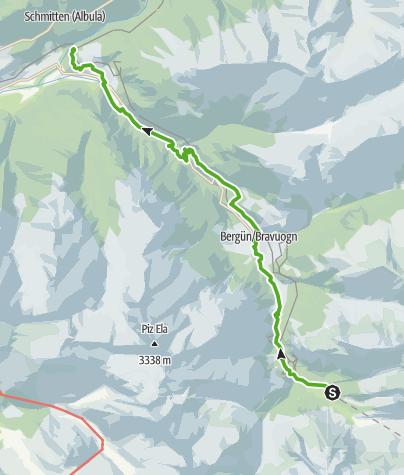 Karte / Bahnerlebnisweg Albula