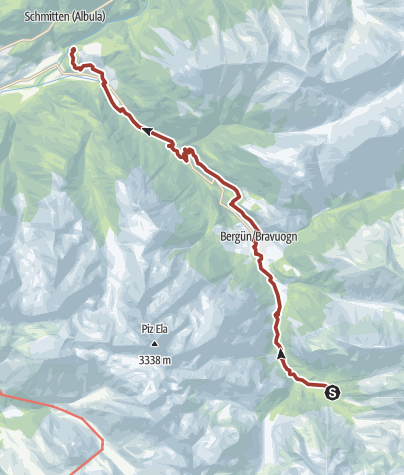 Map / Railway Adventure Trail Albula