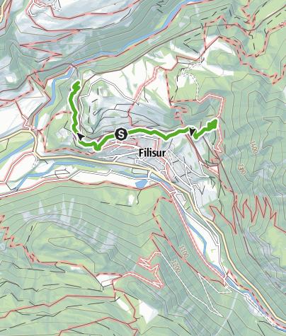 Karte / Spazierpark Filisur