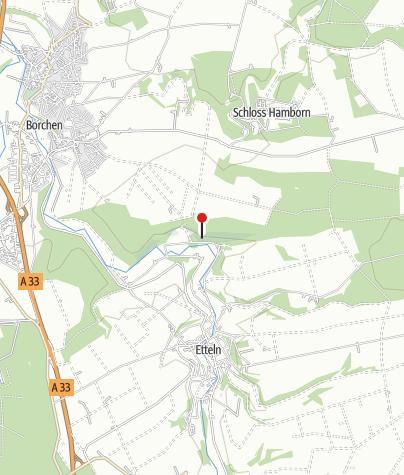 """Karte / Aussichtspunkt """"Teufelstein"""" bei Borchen-Etteln"""
