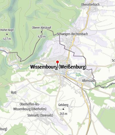 Map / Altstadt Wissembourg