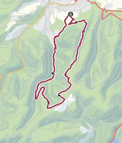 Karte / Mit Cora vom Rammelsberg ins Wintertal