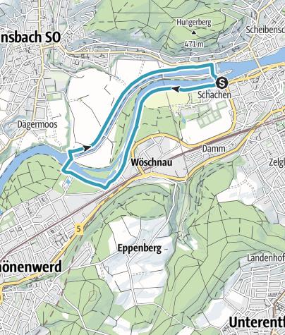 Karte / Inlinetour Einsteiger AOD19