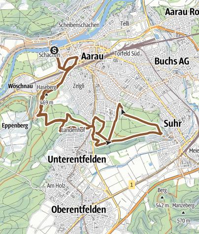 Karte / Mountainbiketour AOD19