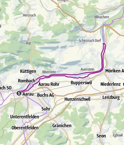 Karte / Fahrradtour AOD19