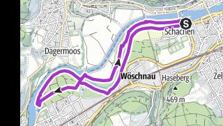 Karte / Joggingtour 8km AOD19