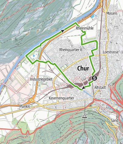 Karte / Churer Rheinwanderung