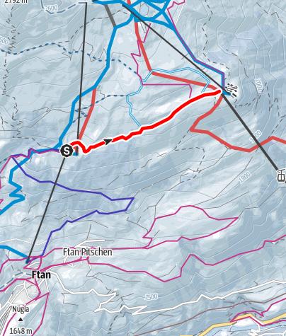 Karte / Flurinaweg/Panoramaweg, Prui - Motta Naluns