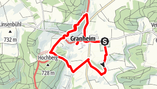 Karte / Wanderung rund um Granheim
