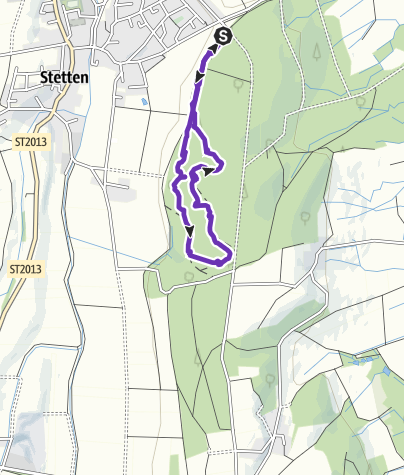 Karte / Vita-Parcours Stetten Trimm-Dich-Pfad