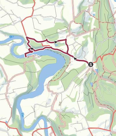 Karte / Illerschleife bei  Bad Grönenbach
