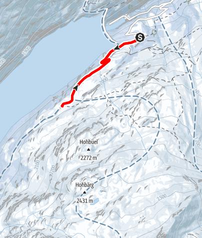 Map / Winterwanderung Zerfreila - Kapelle - Zerfreila