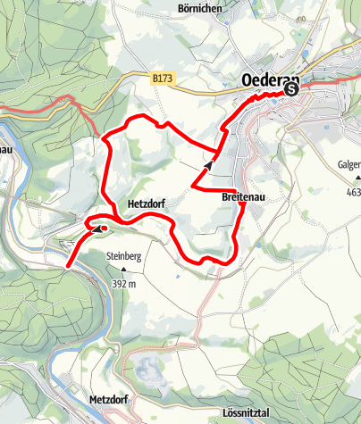 Karte / Wanderung zum Eisenbahnviadukt (Oederan)
