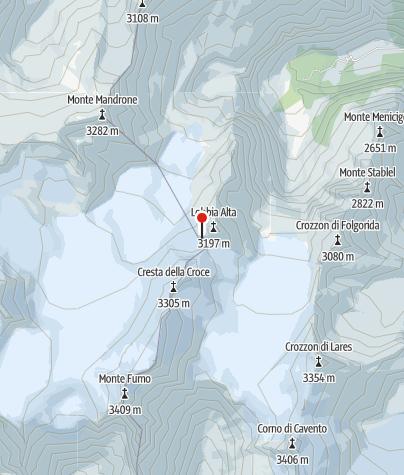 Map / Rifugio ai Caduti Dell'Adamello