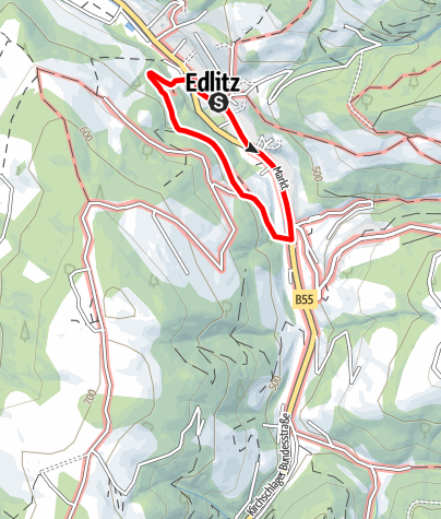 Térkép / Rundwanderweg K1 Plaudermarkt