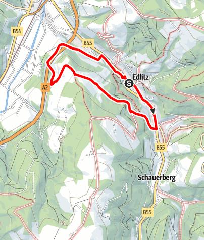 Mapa / Rundwanderweg K4 Königsberg-Lehenkreuz-Schwimmbad