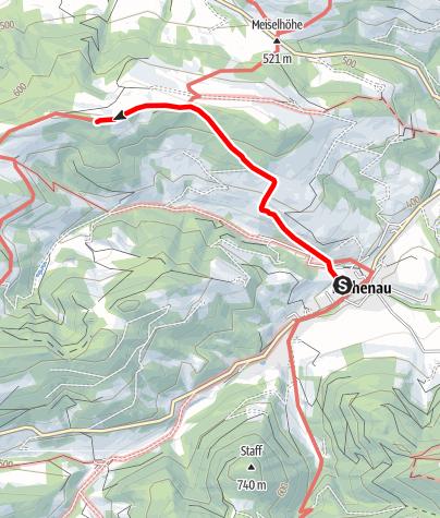 Karte / Kaiserkogel-Hütte von Eschenau über Rabental