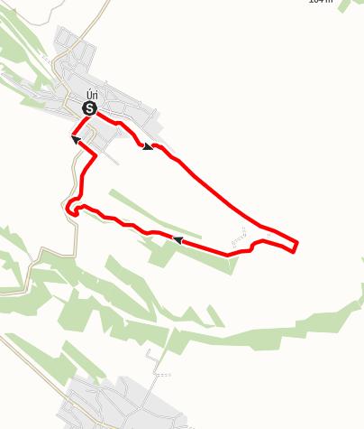Karte / Úri Libaterelő 9 km teljesítménytúra