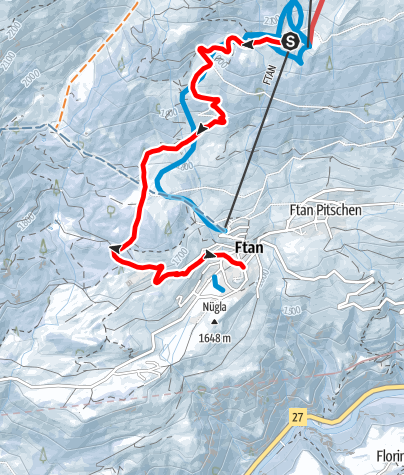 Karte / Prui - Ftan