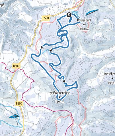 Karte / Thurnerspur Skatingloipe 15,2 km (Abkürzung: 6 km, 8 km, 12 km)