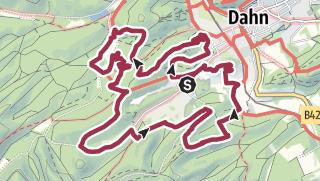 Karte / Randonnée planifiée le 31 juillet 2019 - Dahner Felsenpfad